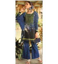 Embroidered Khaddar 3 Pieces Suit With Wool Shawl Dupatta