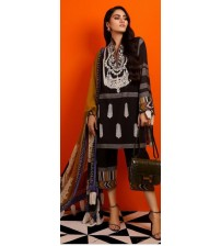 Luxury Embroidered Khaddar Suit With Wool Shawl