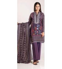 3-Piece Embroidered Unstitched Suit