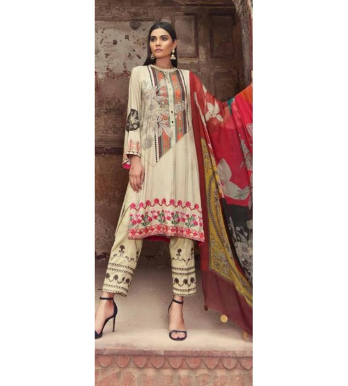 Khaddar Suit With Wool Shawl Dupatta