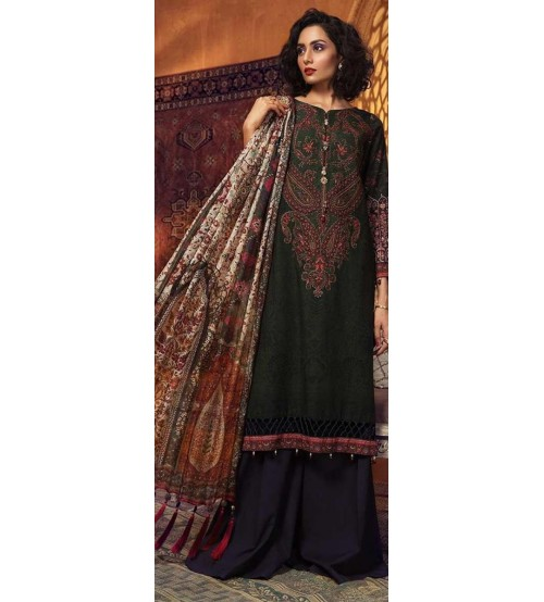 Embroidered Khaddar Suit With Wool Shawl