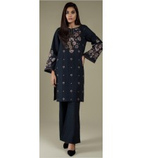 Khaddar 3-Pieces Suit With Wool Shawl