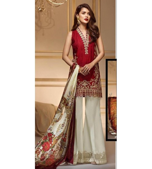 New Winter Collection Embroidered Linen UnStitched Suit
