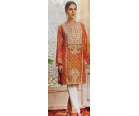3 Pieces Unstitched Embroidered Linen Suit
