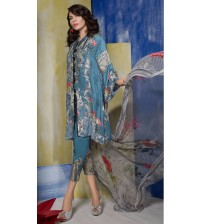 New Replica Linen Dress  with woolshal dupatta Nick embroidered (NO-B)