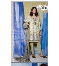 Fully Front Embroidered Suit With Cotton Net Dupataa 503-B