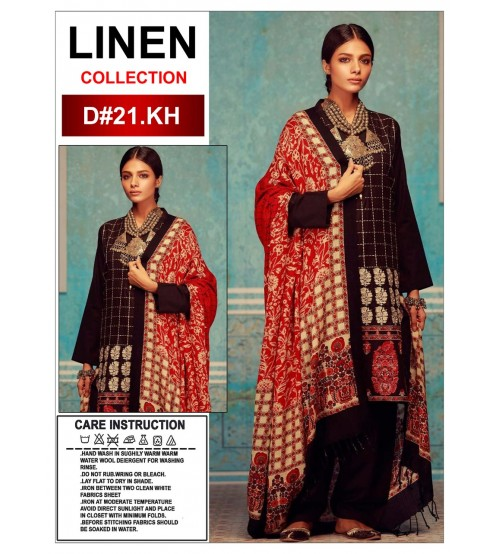 Beautiful Desgined Frount Full Embroidered Khaddar