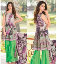 Purple Khaddar Suit with Green trouser