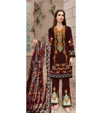 New Embroidered Linen Suit With Palchi Dupatta