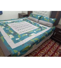 Fabric Cotton Satan 3-pieces Bedsheets