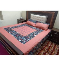 Cotton Satan 3-Pieces Bedsheet