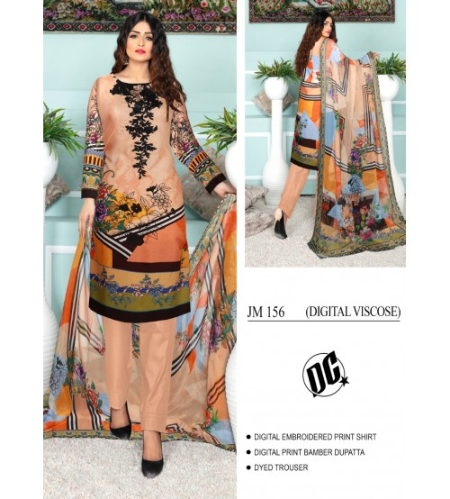 Beautiful embroidered Viscose Skin suit