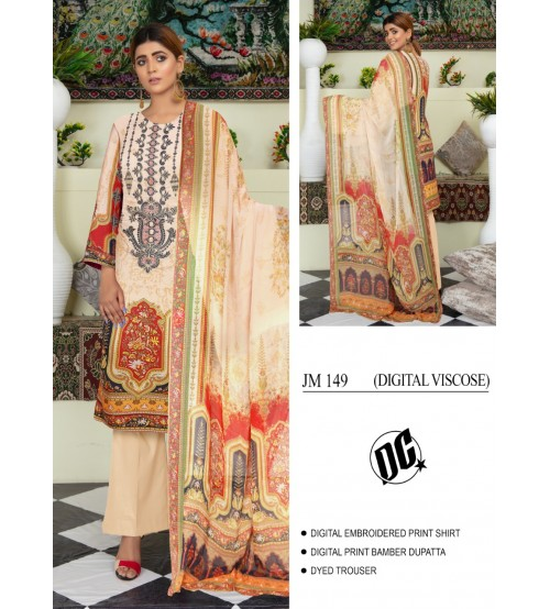 Digital Viscose Beautiful printed suit