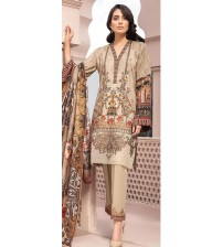 Embroidered schiffle suit with printed sleeve