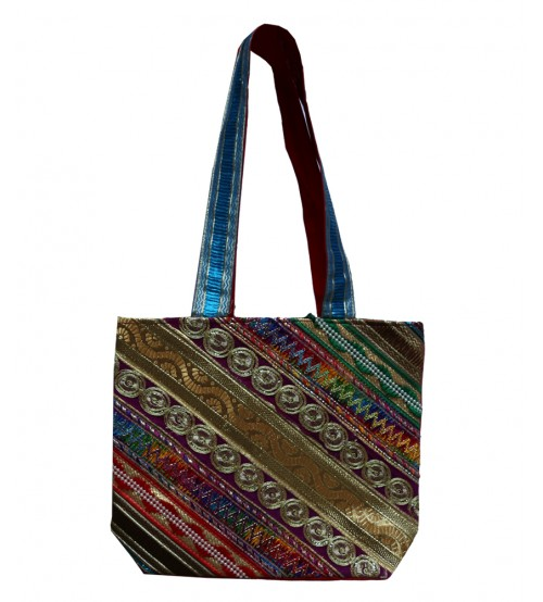 Hand Made-Multi Color Shoulder hand bag