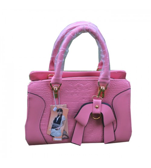 Pink Rexine Fashion Bag