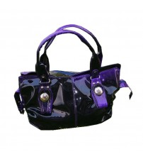 Purple Rexine Fashion Handbag