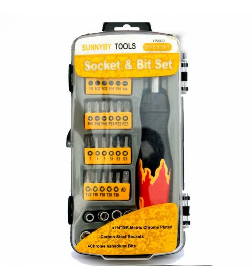 Socket & Bit Set 35 PCS SET YP-2030