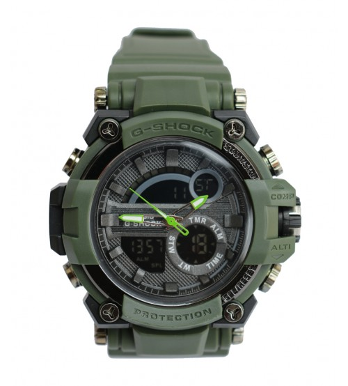 Green Analog Quartz watch for men