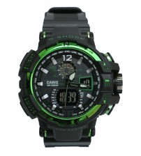 Green & Black Attractive Dial watch for men