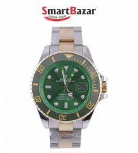 Mens Watch Submariner Green Dial