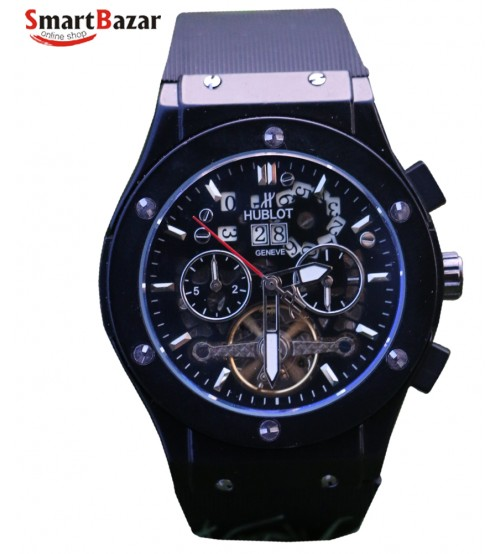 Black Trendy Chronograph Watch for Men