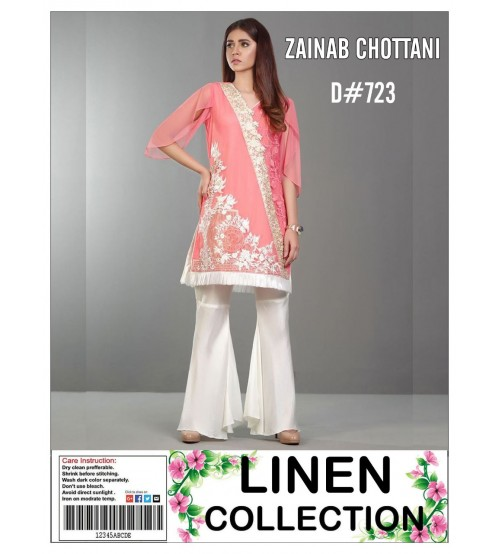 Zainab Chotina 02 Pc Design In Linen