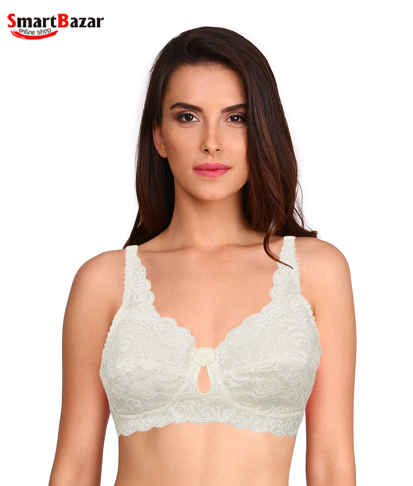 984e2dc372f3e Compare this Product. Fancy Embroidered Net Comfort Fabric Bra Quick View